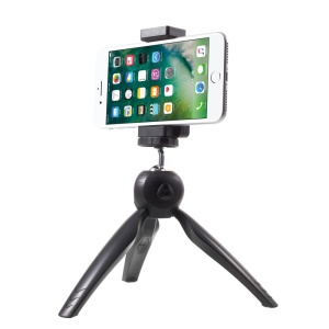 360 Degree Rotary Mini Tripod Stand for Phones Cameras GoPro - Black