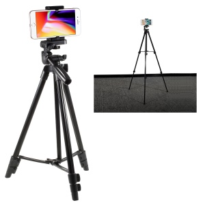 Camera & Mobile Phone Extendable Tripod with Universal Smartphone Holder Mount