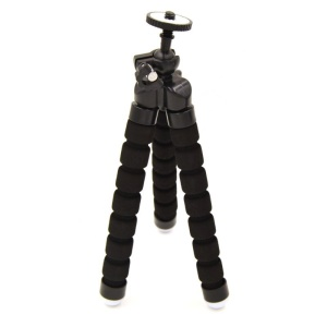 Mini Universal Octopus Leg Style Portable Tripod Stand for Smartphone and Digital Camera - Black