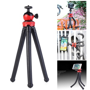 360-degree Rotation Octopus Tripod Stand + Bluetooth Remote Shutter for GoPro Smartphone DSLR etc
