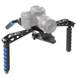 Aluminium Alloy Foldable DSLR Rig Movie Kit Shoulder Mount Support Rig Stabilizer for Canon Nikon Sony etc. DSLR Cameras