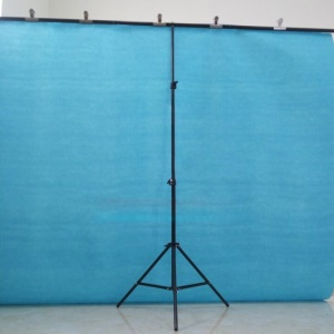 Photography 200x200CM PVC Backdrop Background Support Stand System T-Frame Stand Kit - Black