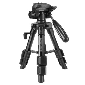 ZOMEI Q100 Portable Aluminum Alloy Mini Travel Camera Tabletop Tripod Lampstand - Black