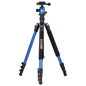 ZOMEi Q555 Lightweight Professional Alluminum Alloy Camera Tripod with 360 Ball - Blue