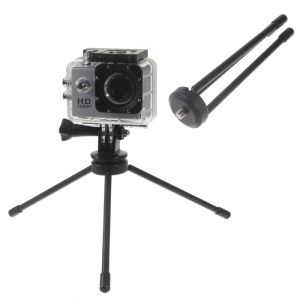 Metal Retractable Tripod Mount with 1/4 inch Interface for GoPro / DSLR Cameras