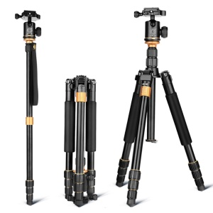 QZSD Q999S Foldable Aluminum Alloy Camera Tripod Monopod with Ballhead for SLR Camera Canon Nikon Pentax Sony