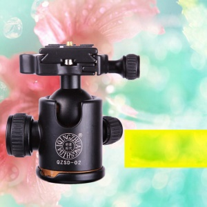 QZSD Q02 Aluminum Alloy 360 Degree Tripod Ball Head Ballhead with Quick Release for Tripod/SLR