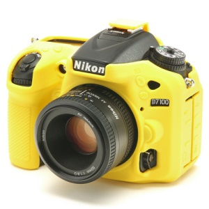 Silicone Camera Body Protection Case for Nikon D7100 / D7200 - Yellow