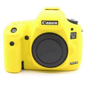 For Canon EOS 5D Mark III / 5DS / 5DRS Silicone Protective Camera Body Cover - Yellow