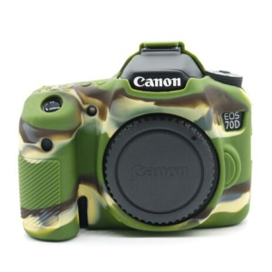 For Canon EOS 70D Silicone Protective Camera Body Case Cover - Camouflage