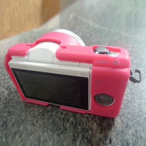 Flexible Silicone Protective Camera Case for Sony A5100 ILCE-5000 - Rose