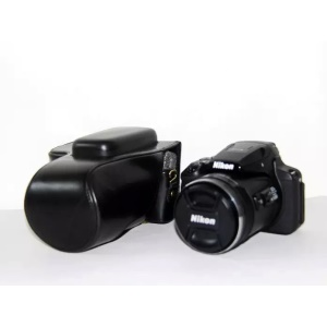 PU Leather Camera Protection Case for Nikon Coolpix P900S  - Black