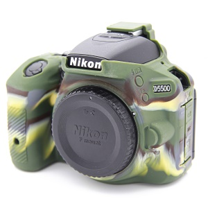 Soft Silicone Protective Case for Nikon D5500 D5600 Cameras - Camouflage