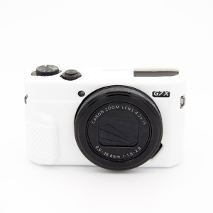 Soft Silicone Protective Cover for Canon G7X Mark II - White