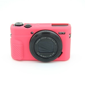 Soft Silicone Protective Shell for Canon G7X Mark II - Red