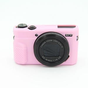 Soft Silicone Protective Camera Case for Canon G7X Mark II - Pink