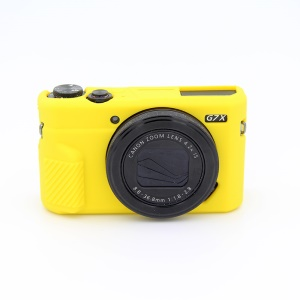 Soft Silicone Protective Camera Shell Cover for Canon G7X Mark II - Yellow