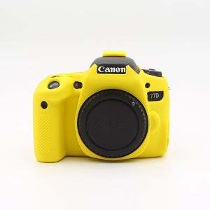 Soft Silicone Protective Camera Shell Case for Canon EOS 77D Camera - Yellow