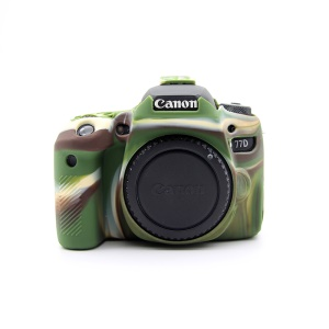 Soft Silicone Protective Housing Cover Case for Canon EOS 77D Camera - Camouflage