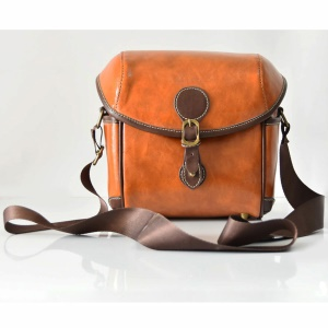 Single Shoulder Leather Camera Pouch Bag for Canon Sony Camera