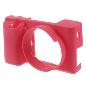 Soft Silicone Protective Cover for Sony Alpha A6000 Camera - Rose