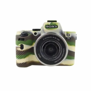Soft Silicone Protection Cover for Sony Alpha A7 II / A72 / A7R2 / A7S2 - Camouflage