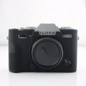 Soft Silicone Casing Cover for Fujifilm X-T10 - Black