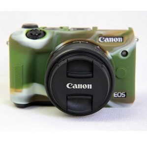 Soft Silicone Protective Shell for Canon EOS M6 - Camouflage