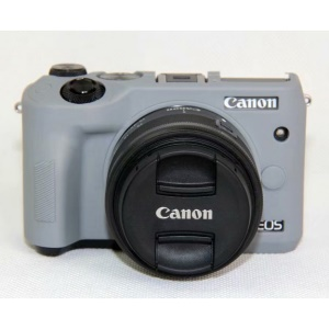 Soft Silicone Protective Case Shell for Canon EOS M6 - Grey