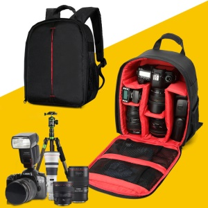 Compact Outdoor Camera Backpack Bag Waterproof DSLR Case - Red / Black