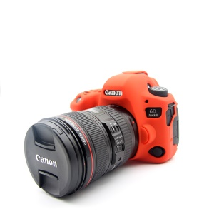 Soft Silicone Protective Case for Canon EOS 6D Mark II - Red
