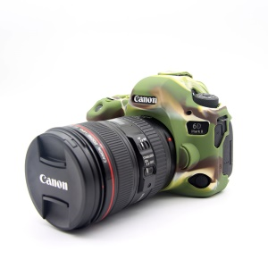 Silicone Soft Protective Case for Canon EOS 6D Mark II - Camouflage