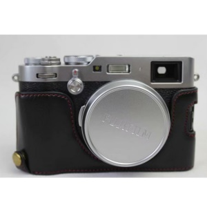 PU Leather Half Camera Case for Fujifilm X100F - Black