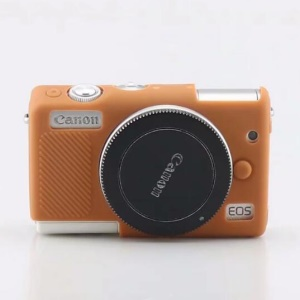 Soft Silicone Protective Camera Cover Shell for Canon EOS M100 - Brown