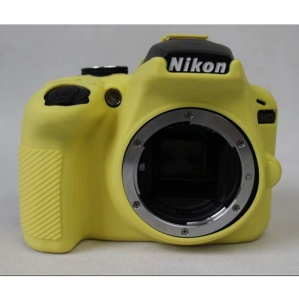 Flexible Silicone Protective Case for Nikon D3400 DSLR Camera - Yellow
