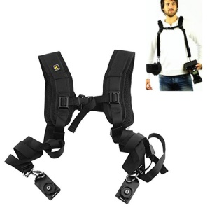 Dual-shoulder Camera Neck Strap Tether Strap for Canon Nikon Olympus Pentax Panasonic Sony DSLR