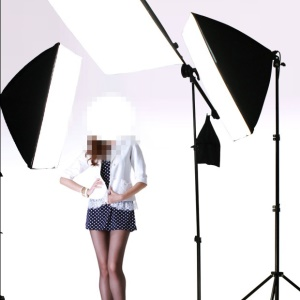 KAYLYPS 5070 Softbox Photography Lamp Suit Light Stand with Cross Bar Arm Photo Studio Lighting Soft Box - EU Plug