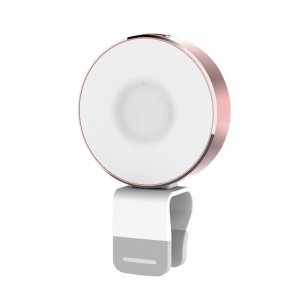 ROCK Omi Universal LED Selfie Fill-in Light + USB Cable Stand for iPhone Samsung - Rose Gold