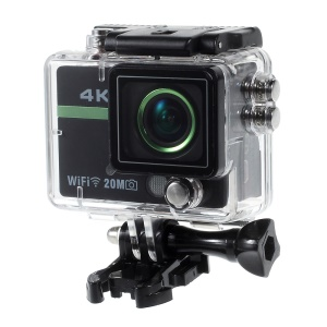 AT300+ Full HD 1080P WiFi Sports Action Camera + Wireless Remote Control - Black