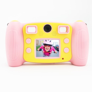 H129 Cute Portable 2.0-inch 1.3MP Children Camera Video Camcorder - Pink