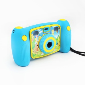 H129 Lovely Mini 2.0-inch 1.3MP Children Camera Video Camcorder - Baby Blue