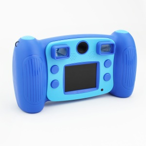 H129 Funny 2.0-inch 1.3MP Camera Photography Video Camcorder for Kids - Dark Blue