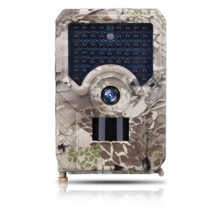 PR200 Anti-theft Automatic Monitoring Hunting Camera 12MP IR LED Night Vision Camera - Camouflage