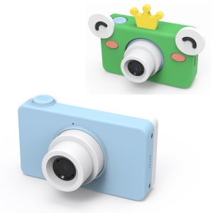 D8 Children's Cartoon Camera Small Digital Camera for Kids - Blue / Frog