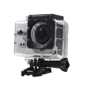 "QUANZHI V3 2"" 4K Ultra HD 16MP WiFi 170-degree Wide Angle Waterproof Action Camera - White"