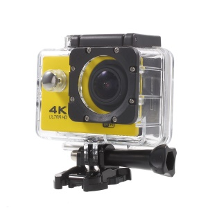 "QUANZHI V3 2"" Ultra HD 16MP WiFi 170-degree Wide Angle Waterproof 4K Action Camera - Yellow"