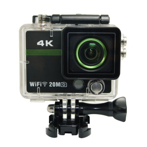 X5S Plus 4K WiFi Sports Action Camera Ultra HD Waterproof DV Camcorder 12MP 170 Degree Wide Angle - Black / Green