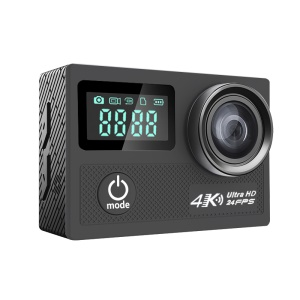 "N5A Novatek 96660 2"" LCD 4K@24fps 12MP 170° Wide Angle WiFi 30M Waterproof Sport Camera - Black"