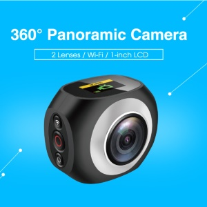 G720 Dual Lenses 360° Panoramic Action Camera 1.0-inch LCD WiFi VR Sports Camera - Black / EU Plug