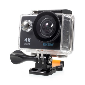 EKEN H9R WiFi 4K Ultra HD Action Camera 2.0-inch Waterproof 30M 170-Degree Wide Angle - EU Plug / Black